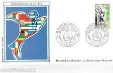 1986**ENVELOPPE**FDC 1°JOUR!!**ANNEE DE LA PAIX-VICTOR BASCH*TIMBRE Y/T 2415