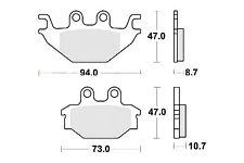 Jeu 2 plaquettes frein Avant qualité pour quad SYM QUADLANDER 300 S 2008 - 2013