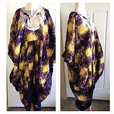 Vintage Dress Caftan Oaxacan Hi Low Tie Dye Boho Hippie Tye Dye Gypsy Festival