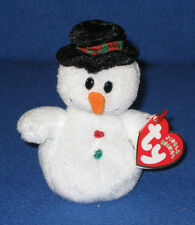 TY COOLSTON the SNOWMAN JINGLE BEANIE BABY - MINT TAGS