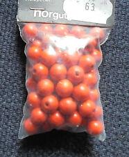 Neue Holzperlen   4 mm  6 mm   10 mm   14 mm     orange     rotbraun