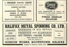 1953 Halifax Metal Spinning Gordon Works Boothtown Ad