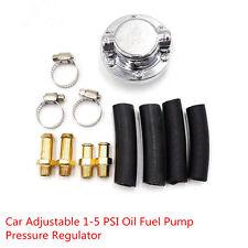Auto Car Adjustable 1-5 PSI Oil Fuel Pump Pressure Regulator 8mm 10mm Tail Hose