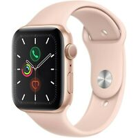 Apple Watch Series 5 40mm Aluminum Gold Case Pink Sand Sport Band MWV72LL/A
