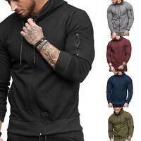 Men Stylish Hoodie Sweater Casual Jacket Sport Cardigan Sweatshirt Pullover Tops