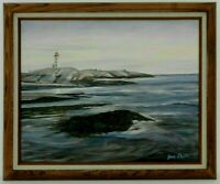 "M.JANE DOYLE SIGNED ORIG. ART OIL/CANVAS PAINTING ""PEGGY'S COVE"" (SEASCAPE) FR."