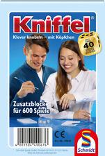 KNIFFELBLOCK, für 600 Spiele, KNIFFEL NEU & OVP Ersatzblock - Schmidt 49067