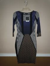 NWT Topshop Women's Multicolor Dress 3/4 Sleeve Size 6
