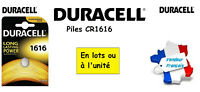 Piles boutons lithium Duracell CR1616 3V ** Expédition Rapide Et Gratuite **