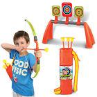 Childrens Toy Archery Set Bow 3 Arrows Target Practice Fun Outdoor Garden Game