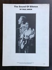 1964 THE SOUND OF SILENCE /  PAUL SIMON Sheet Music HELLO DARKNESS My OLD FRIEND