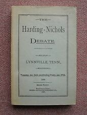 J A Harding - J H Nichols Debate on Faith and Modes of Baptism Church of Christ
