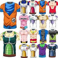 Men Dragon Ball Z Compression T Shirt DBZ Goku Short Sleeve Jersey Top Costume L