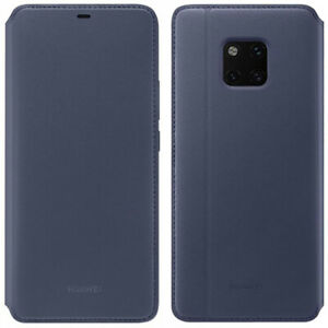 Official Huawei Wallet Cover Faux Leather Flip Case for Mate 20 Pro - Deep Blue