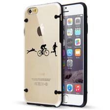 For iPhone Slim Clear TPU Hard Case Cover Iron Athlete Swin Bike Run Triathlon
