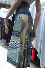 Diseñador MISSONI TOTALMENTE DIVINE Multicolor Estampado Azul Peculiar Falda US