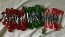 Bucilla Embroidery Floss Lot Over 60 Needlework Cross Stitch Made in Usa Green