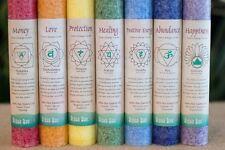 CHAKRA CANDLE Pillar - Aloha Bay - Color Therapy MIND BODY Spiritual Balancing