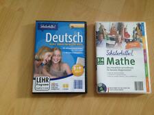 2 x Schülerhilfe Deutsch und Mathe 3 + 4 Klasse PC Lernsoftware Windows