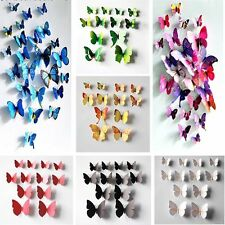24 x 3D Butterfly Sticker Art Wall Stickers Decals Room Decorations Home Decor