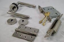 Mitred Handle Pack (External Timber Door Set)Hinge, Polished Stainless Steel
