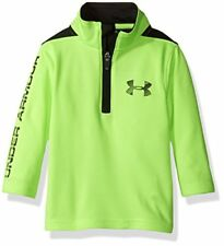 NWT UNDER ARMOUR Longevity 1/4 Zip Boys Long Sleeve Shirt Quirky Lime Size 6