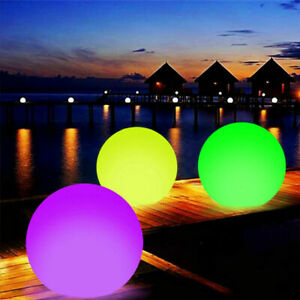Waterproof LED Light 7 Color Swimming Pool Floating Ball with Remote Control Toy