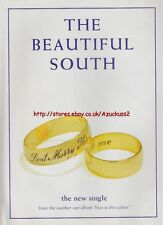 """The Beautiful South """"Dont Marry Her"""" 1997 Mag. Advert #592"""