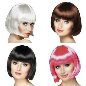 Short Bobbed Wig With Fringe 6 Colours Fancy Dress Accessory 20s Flapper