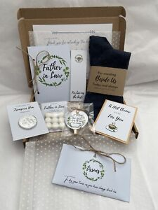 Father Of The Groom Gift Set From Bride Wedding Gift Father In Law Personalised