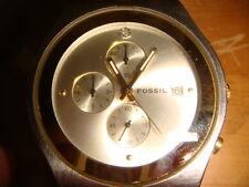 Fossil Arkitekt  Mens Gold & Silver Tone  5ATM Chronograph Diamond Watch FS-2934