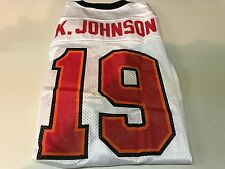 NWT MEN'S KEYSHAWN JOHNSON #19 RETRO TAMPA BAY BUCCANEERS WHITE REEBOK JERSEY