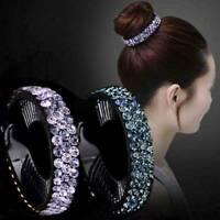 Fashion Women Rhinestone Hair Clip Crystal Claw Ponytail Bun Hair Comb Hairpin