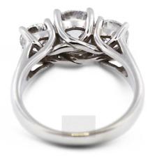 3.30ct D-SI2 Rund Natürlich Zertifiziert Diamanten 14k Gold Klassisch Verlobung