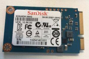 SanDisk 64GB SSD SDSA5DK-064G mSATA  SD6SF1M-064G-1022 6G 54-90-20801-064G