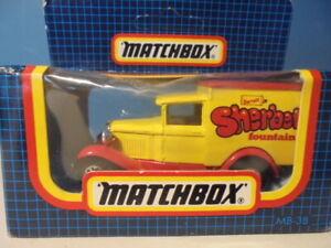MATCHBOX LESNEY SUPERFAST  FORD MODEL A VAN, 38g, c1984 , mib ,Barratts