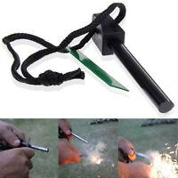 Camping Ferrocerium Flint Stone Rod Fire Starter Lighter Magnesium Survival Tool