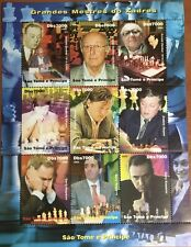 Sao Tome & Principe 2005 Chess Masters Sheetlet MNH