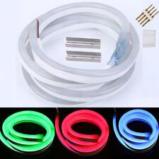 12V Commercial LED Neon Rope Lights Flex Tube Sign White Green Red Blue RGB