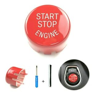 For BMW  F32 F33 2014-2018  Durable Red Start Stop Engine Switch Button Cover