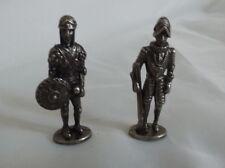 2 Vintage Miniature Pewter Soldiers