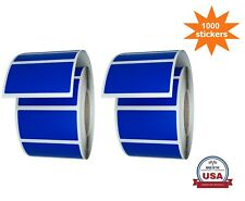 Blue Rectangular Colored Labels 157in X 075in 4cm X 2cm 1000 Pack On Rolls