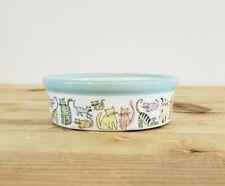 Ceramic Cat Bowl 5 inch Cat Town Multicolored Cat Themed Food Dish