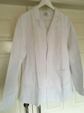 """GX787 Mens White Catering kitchen food prep warehouse Chef jacket coat 44"""" Large"""