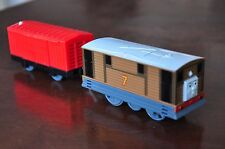THOMAS TRACKMASTER TRAIN SET MOTORISED ENGINE - Talking Toby and carriage TENDER