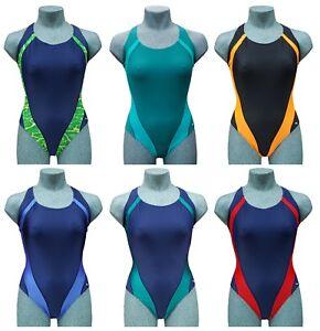 CHEX Ladies Girls Maldives Racer Back Swimming Costume Suit Polyamid Elastane