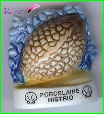 """Feve Les coquillages Shell Schale Edition Atlas """" Le Porcelaine Histrio """" #C58"""