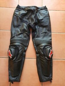 Alpinestars Leather Motorcycle Trousers - Mens Size US 34 EU 50