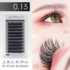 0.15 Faux Mink Individual Eyelash Extension Semi Permanent Soft Natural Look