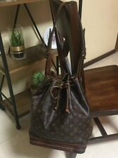 Louis Vuitton Monogram Noe GM Bag Handbag Purse Vintage Drawstring Leather